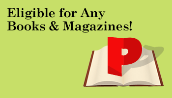 Earn Up To 500 Points On All Books & Magazines