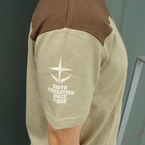 Mobile Suit Gundam Federation Uniform T-shirt Sand Khaki