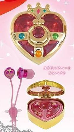 Sailor Moon Compact Case Ear Headphones SLM-21A Cosmic Heart Compact /