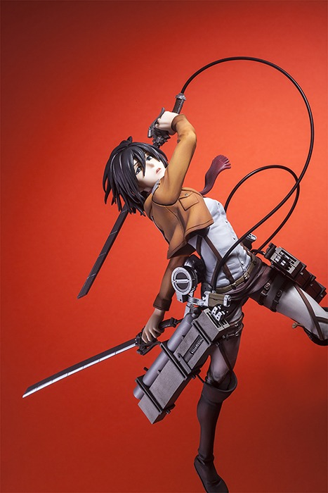 Hdge technical statue No.5 Attack on Titan Mikasa Training Corps Ver. /