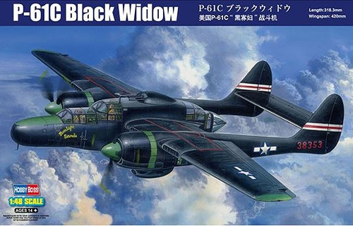 HOBBY BOSS 1/48 Aircraft Series P-61C Black Widow /