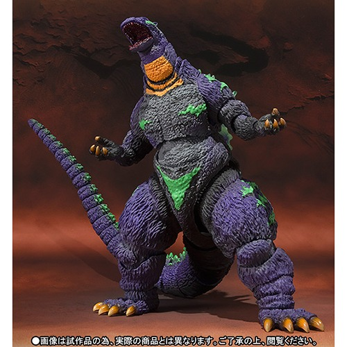 S.H.Monster Arts Godzilla versus Evangelion Godzilla feat.EVA-01 /