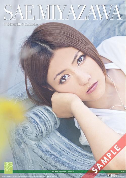 AKB48 2013 B2 Size Calendar Miyazawa Sae  / Sae Miyazawa