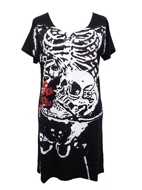 Skull Printed Long T-Shirt / SUPER LOVERS