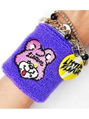 [Re-release] Smack Bear Wrist Band w / Can Badge Purple