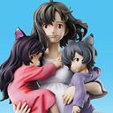 "Super Figure Art Collection ""Wolf Children"" Hana & Ame & Yuki /"