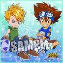 Digimon Adventure Micro Fiber Mini Towel "Taichi (Tai Kamiya) & Yamato (Matt Ishida)" /