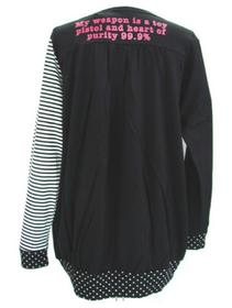 Stripes & Polka Dots Skeleton Cardigan