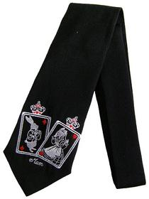 Cards & Alice Embroidered Necktie
