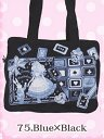 Black-Cat Alice Wonder Tea Party School Bag